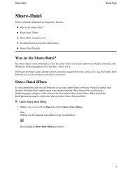 Share-Datei reorganisieren - Software AG Documentation