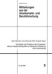 Konzepte und Probleme der Evaluation aktiver ... - IAB