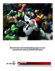 Bericht über die Arbeitsbedingungen in zwei chinesischen Disney ...