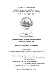 Hygieneaspekte organischer Düngemittel und ihre Anwendung - BLE