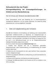Schlussbericht über das Projekt: Homogenitätsprüfung bei ... - BLE