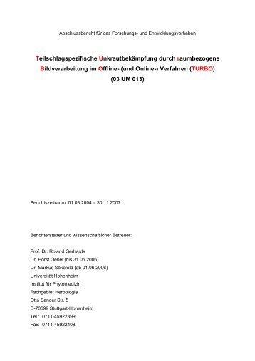 Abschlussbericht für das Forschungs- und ... - BLE