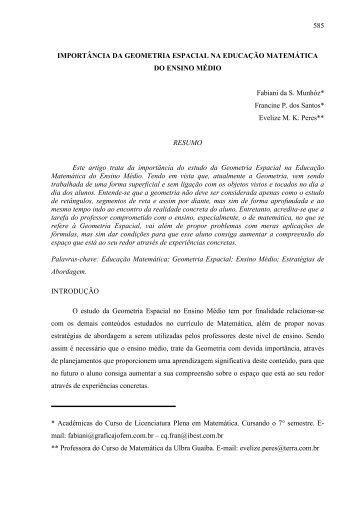 IMPORTÂNCIA DA GEOMETRIA ESPACIAL NA EDUCAÇÃO ... - Ulbra