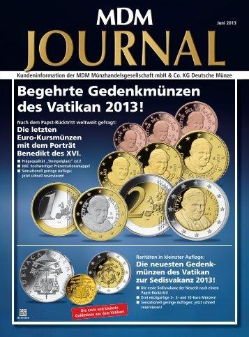 Begehrte Gedenkmünzen des Vatikan 2013! - MDM ...