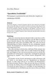 Sprachliche Zweifelsfälle - Hermes - Journal of Linguistics