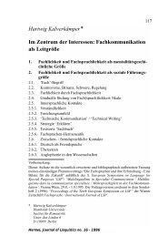 Fachkommunikation als Leitgröße - Hermes - Journal of Linguistics