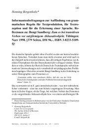 matischen Regeln für Textproduktion, für Textre - Hermes - Journal ...