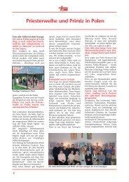 Priesterweihe und Primiz in Polen