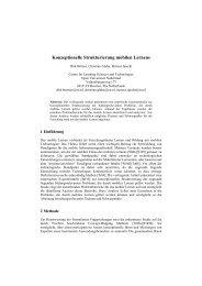 Konzeptionelle Strukturierung mobilen Lernens - DSpace at Open ...