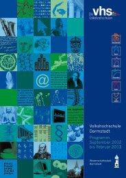 Volkshochschule Darmstadt Programm September 2012 bis Februar ...