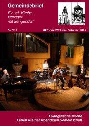 Gemeindebrief Oktober 2011 bis Februar 2012 - Ev. Kirche Heringen