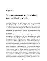 Kapitel 5 Strukturoptimierung bei Verwendung ... - bei DuEPublico