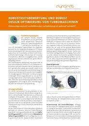 Geometrieoptimierung eines ... - Dynardo GmbH