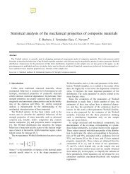 Statistical analysis of the mechanical properties of ... - E-Archivo UC3M