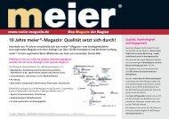 10 Jahre meier®-Magazin - easyCatalog - look out crossmedia