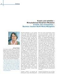 Kreativ und weltoffen – Wirtschaftsland Nordrhein-Westfalen ...