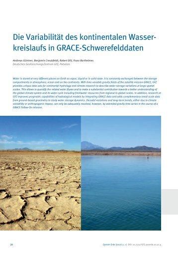 Die Variabilität des kontinentalen Wasser - E-Books Deutsches ...
