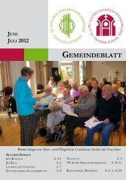 GOTTESDIENSTE JULI 2012 - Auferstehungskirche Dresden-Plauen