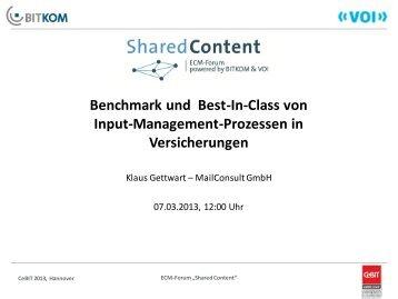 Benchmark und Best-In-Class von Input ... - ECM Navigator