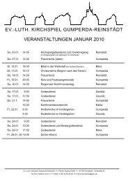 ev.-luth. kirchspiel gumperda-reinstâdt veranstaltungen januar 2010