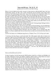 Jesus sorgt für uns - Mt. 15, 32 – 39 - EKG Freiberg