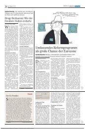 Umfassendes Reformprogramm als große Chance der Eurozone