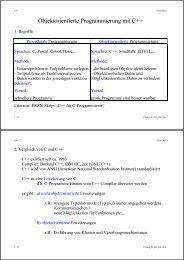 Objektorientierte Programmierung mit C++ - Elektrotechnik