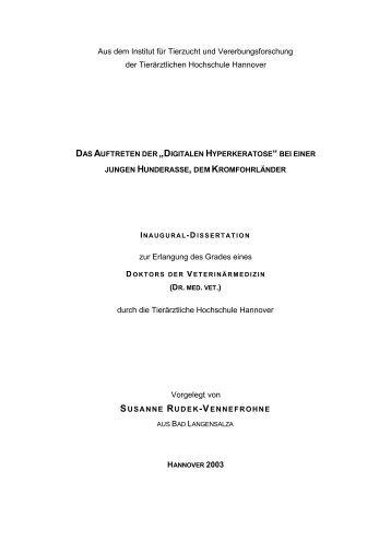 Digitalen Hyperkeratose - TiHo Bibliothek elib - Tierärztliche ...