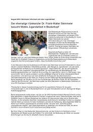 August 2010: ehemailiger Vizekanzler informiert sich - St. Elisabeth ...