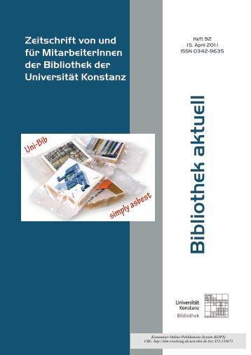 Heft 92_a.pdf - KOPS - Universität Konstanz