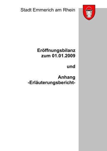 Eröffnungsbilanz zum 01.01.2009 und Anhang ... - Emmerich