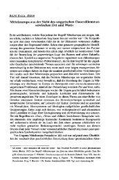 Mitteleuropa aus der Sicht des ungarischen Dauerdilemmas - EPA