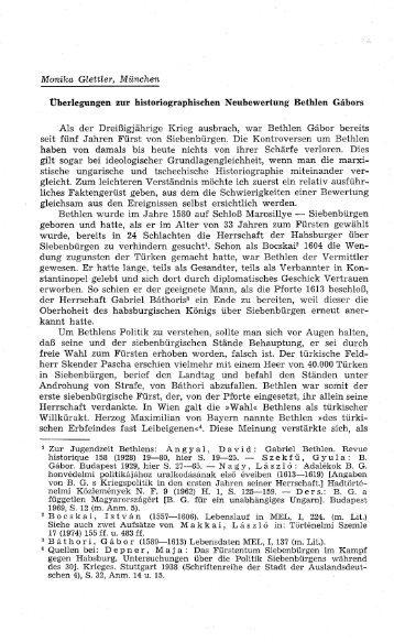 Überlegungen zur historiographischen Neubewertung ... - EPA