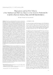 Fluctuations and Ice-Flow Velocity of the Northeast and ... - ePIC - AWI