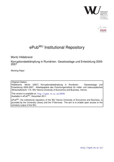 Download (431Kb) - Electronic Publications of the WU-Wien