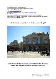 Erfahrungsbericht 1 - ERASMUS-Programm ...