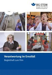 Verantwortung im Ernstfall - Die BG ETEM