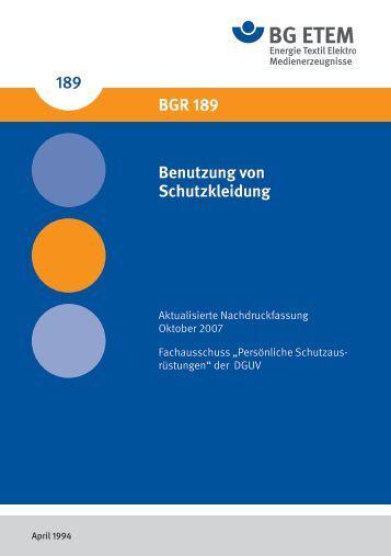 BGR 189 - Die BG ETEM