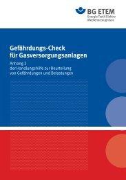 Gefährdungs-Check für Gasversorgungsanlagen - Die BG ETEM