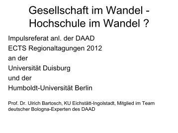 Prof. Dr. Ulrich Bartosch - eu-DAAD