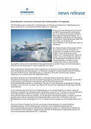 Gasanalysatoren von Emerson untersuchen die Tankatmosphäre ...