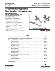 Rosemount Integrierte Blendendurchflussmesser