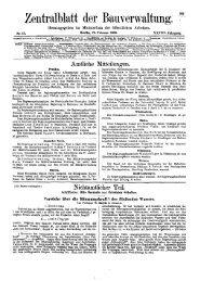 016. Zentralblatt der Bauverwaltung XXVIII. 1908, Nr. 15= S. 105-112