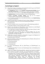 Kontrollfragen zu Kapitel 2
