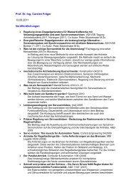 Publikationsverzeichnis