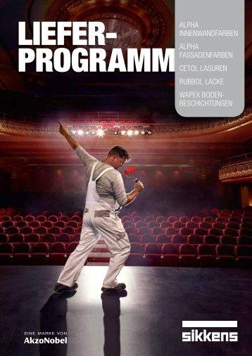 Sikkens Lieferprogramm 2012/2013 - Farben-schmitt.de