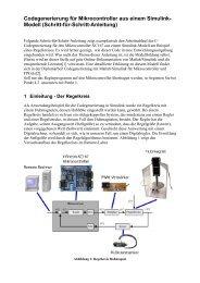 Codegenerierung für Mikrocontroller aus einem Simulink