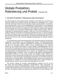 Globale Produktion, Polarisierung und Protest | Thomas Fritz - FDCL