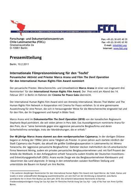 PM FDCL vom 10.2.2011 (PDF, 100 kB)