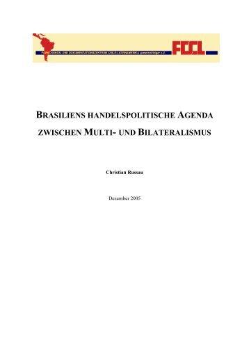 brasiliens handelspolitische agenda zwischen multi - FDCL
